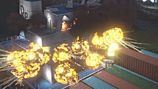 WICKED: Cargo ship explodes and sinks! (HD)