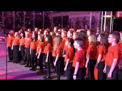 Bacon Elementary sings the Star Spangled Banner