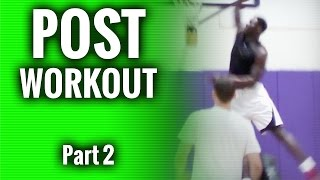 Post player workout part 2...basketball drills for post players