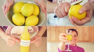🍋 LIMONCINO / LIMONCELLO 🍋 FATTO IN CASA Ricetta Facile - Homemade Limoncello Liqueur Easy Recipe