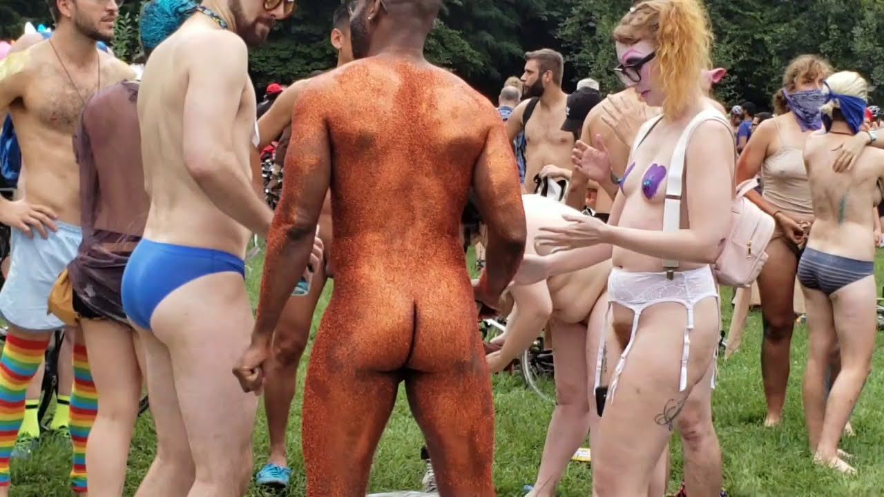Imageing the world naked bike ride