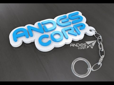 Make a 3D Key Ring Souvenir with 3Ds Max
