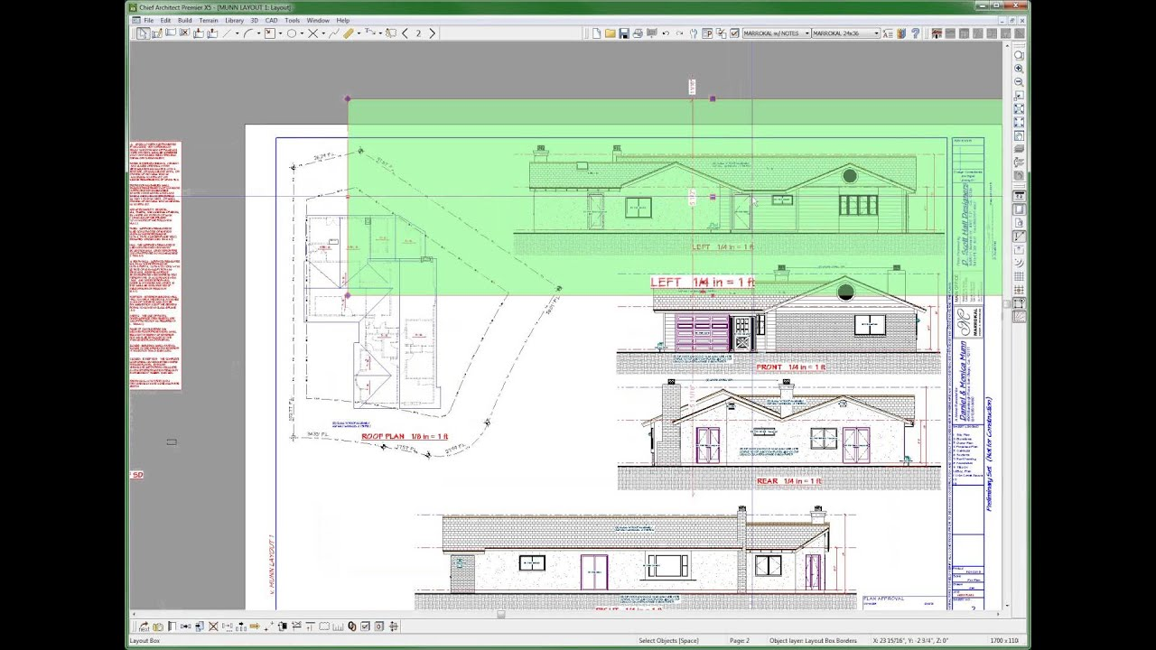 displaying layout box in plan view chief architect videos by dsh