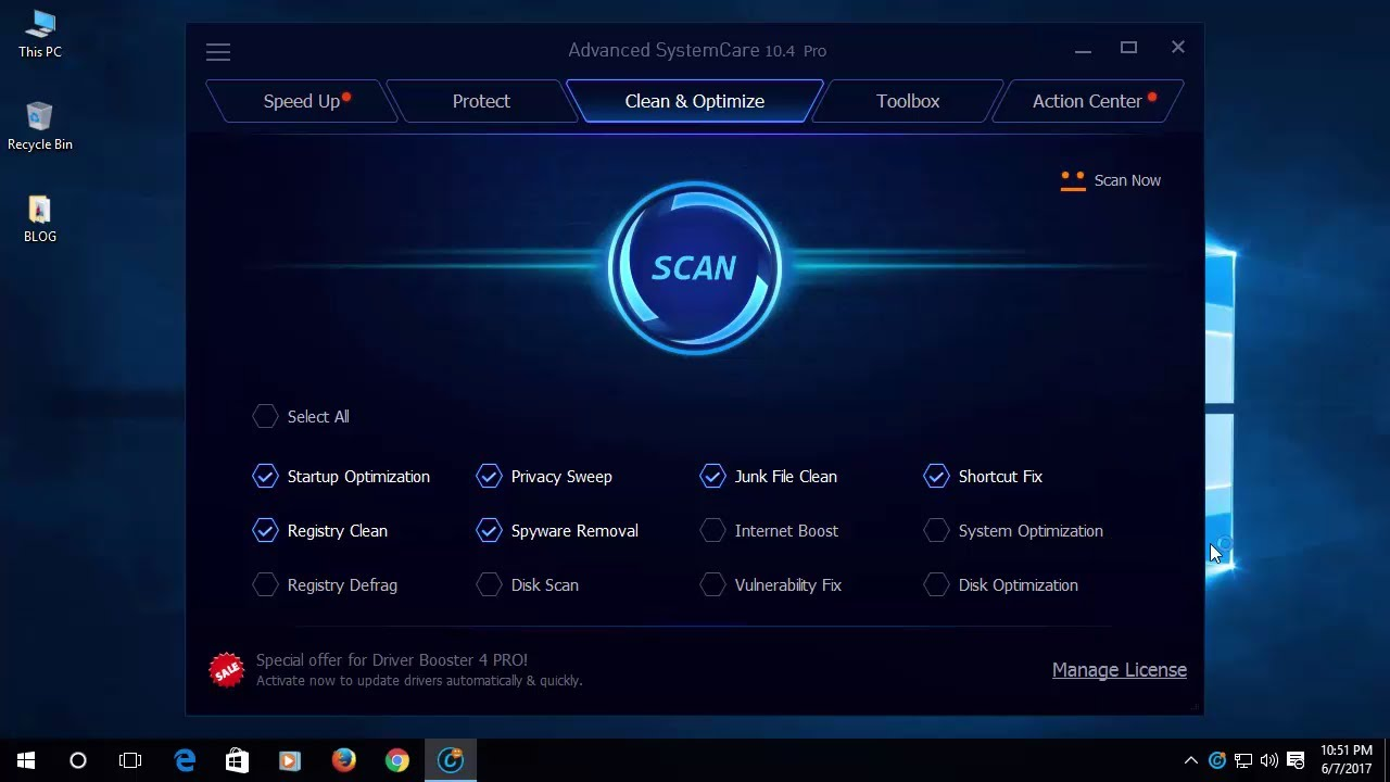 advanced systemcare 10 activation