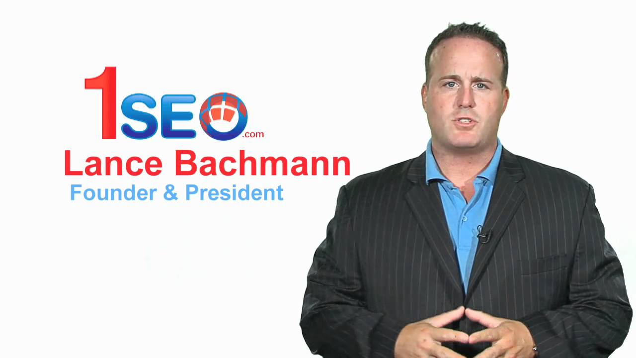 Lance Bachmann president and Founder of 1SEO.com , We Gauranteed result to  our Client. - YouTube