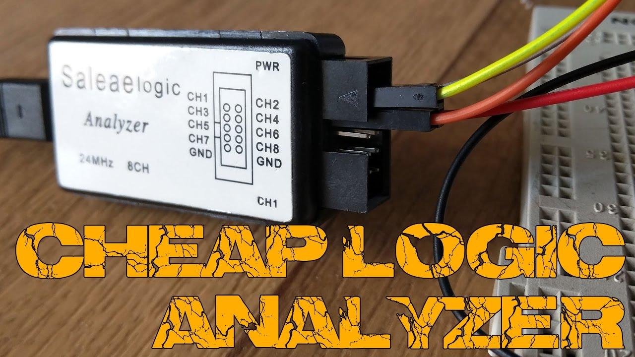 hight resolution of cheap logic analyzer spi i2c uart