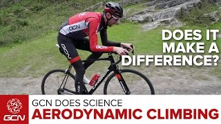 Does Cycling In An Aerodynamic Position Uphill Make You Faster? | GCN Does Science
