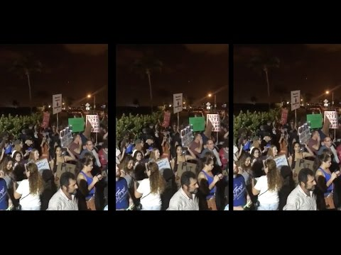 Palm Beach Trump Protest at Mar A Lago