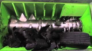 ECO Monster - Single shaft Tire Shredder