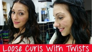 Loose Curls With Twists (Curling Wand) Easy Fall Hair Tutorial | Instant Beauty ♡