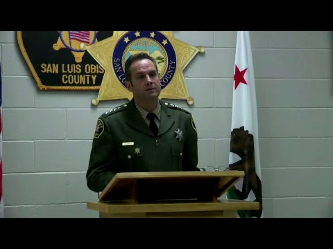SLO County Sheriff press conference 3-15-18