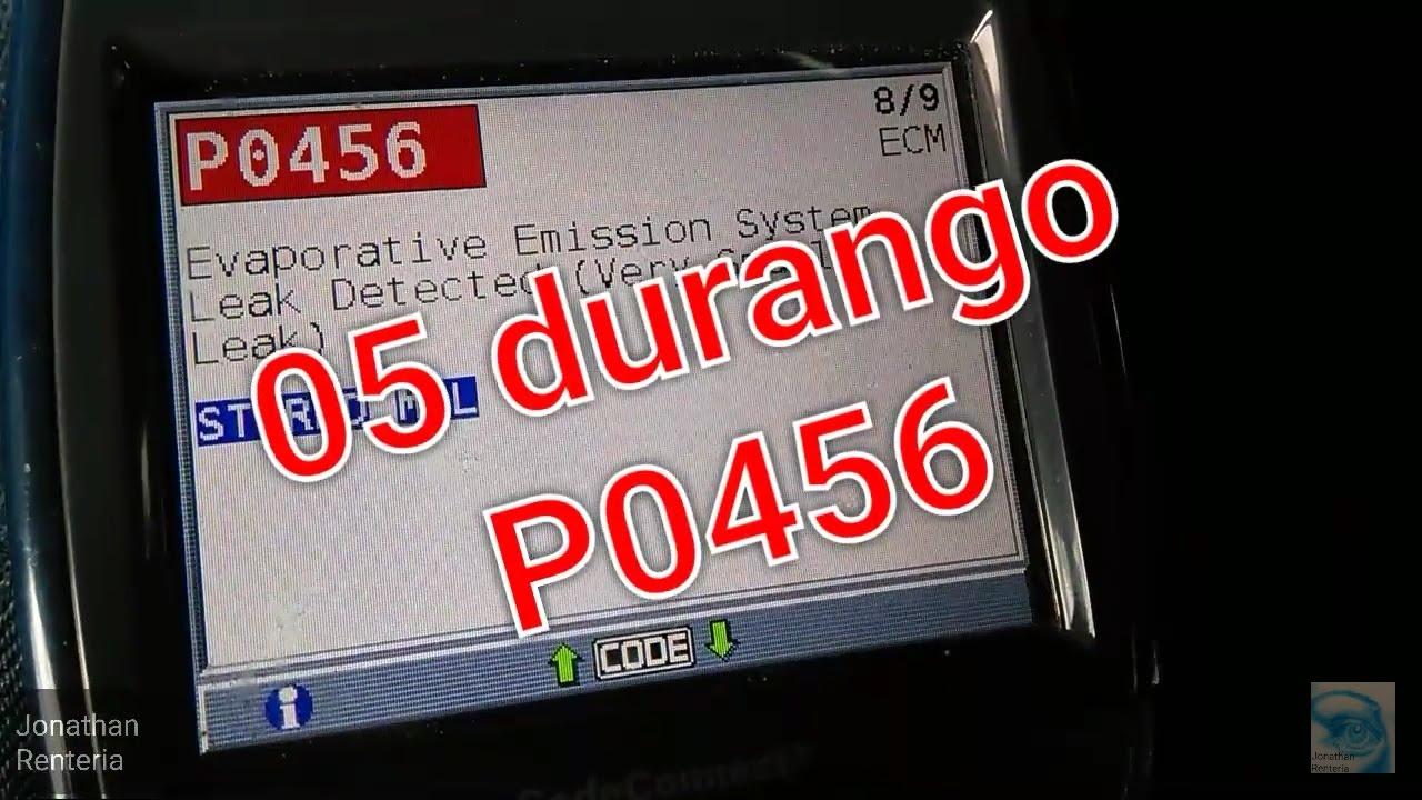p0456 engine code dodge caravan