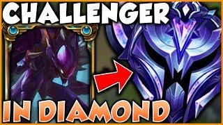 WHAT HAPPENS WHEN THE RANK 1 KHA'ZIX PLAYS IN DIAMOND ELO?! - League of Legends