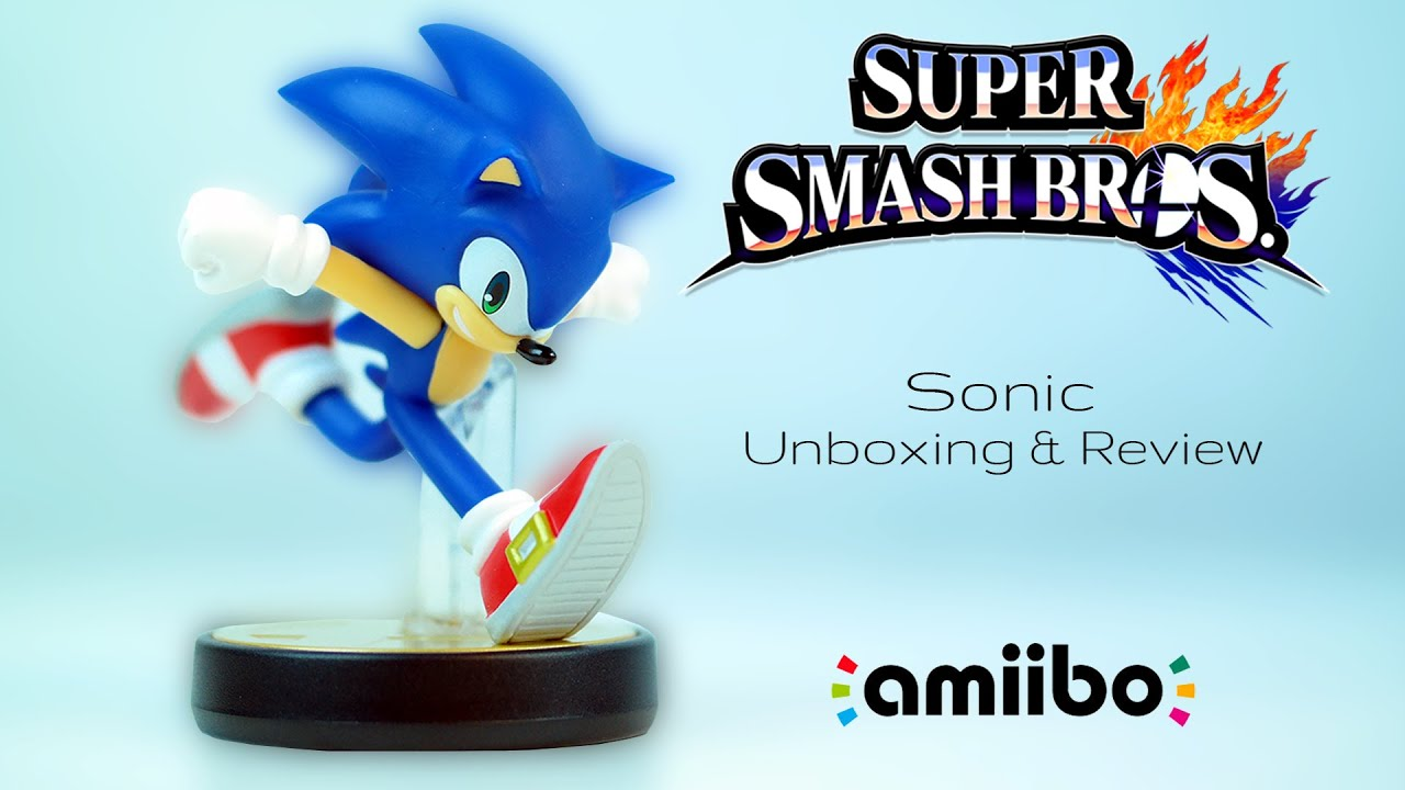 Sonic Amiibo Unboxing Review Super Smash Bros Collection Wave 3 Raymond Strazdas Youtube