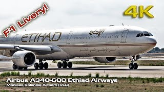 Airbus A340-600 Etihad F1 Abu Dhabi Gran Prix Livery ![4K]
