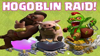 Clash Of Clans Attack Strategy Goblins And Hogriders | Epic Clash Of Clans Attack Raids
