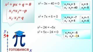 Задание 4  Приведенные квадратные уравнения  Теорема Виета
