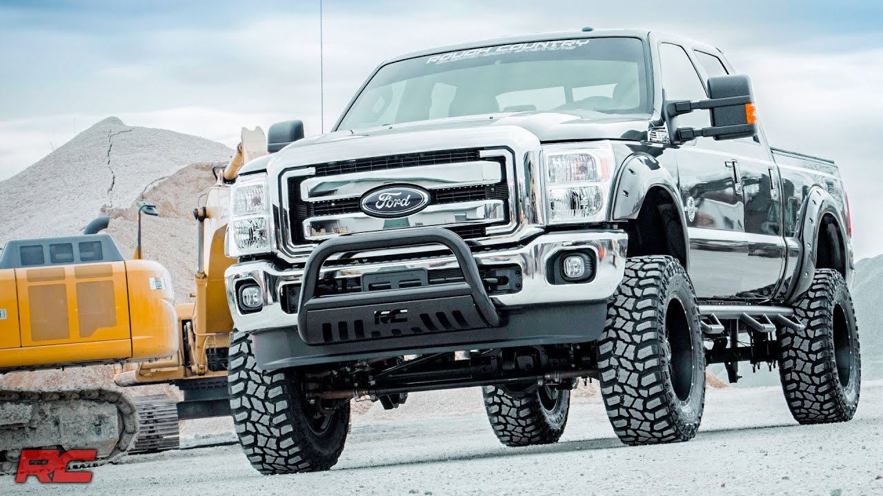 Lifted F150 2017 >> 2016 Ford F-250 Super Duty Rough Country Off-Road Edition (Gray) Vehicle Profile - YouTube