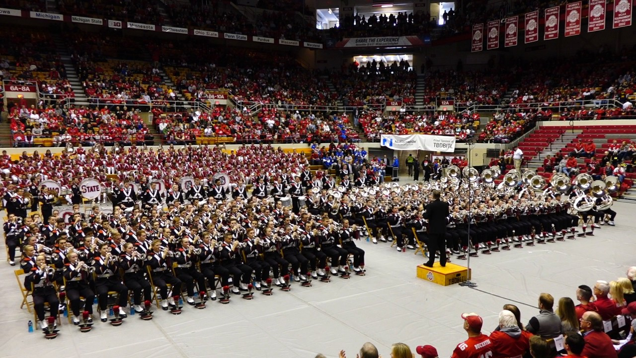 Slow Fight Song at Skull Session Ohio State Marching Band 11 26 2016 OSU vs  MI 345018475