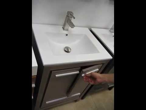 Fresca Allier 24 inch Modern Bathroom Vanity - Grey Oak