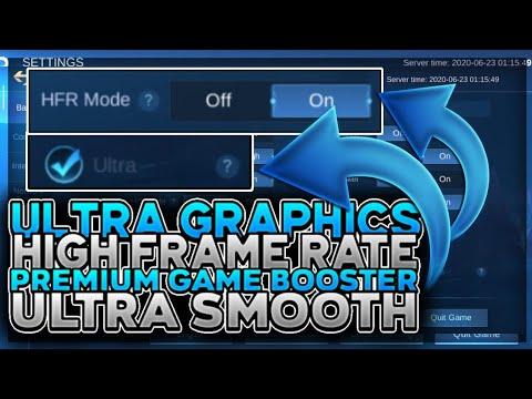 NEW UPDATE HOW TO FIX LAG AND FRAME DROPS ON MOBILE LEGENDS - UNLOCK HFR - ULTRA GRAPHICS