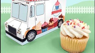Make A Sweet Cakes Dessert Truck Cupcake And Favor Box Printable Kit