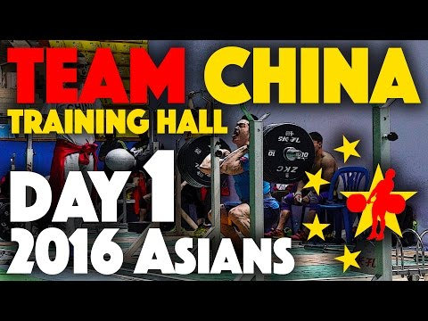 Team China Training Hall - 2016 Asian Championship (April 23rd)