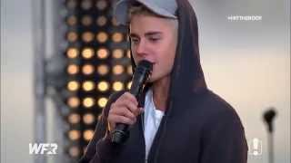 Justin Bieber singing As Long As You Love Me acoustic on the World Famous Rooftop, September 28 2015