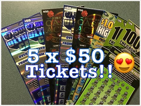 5 x $50! $300 in Texas Lottery Scratch Off Tickets!