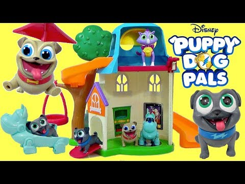 New PUPPY DOG PALS DOGHOUSE PLAYSET  Rolly Bingo Hissy ARF Pup Toy Surprises