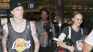 Lily-Rose Depp And Boyfriend Ash Stymest Arrive In LA After Fashion Week