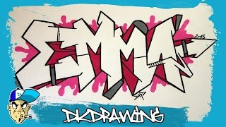 How to draw graffiti names - Emma #8
