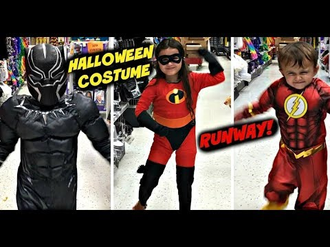 halloween costume runway party city vlog what should we be incredibles 2 black panther