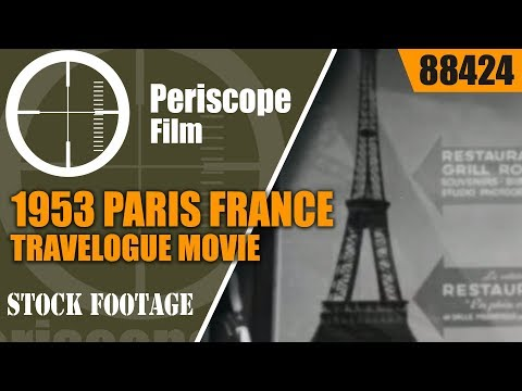 1953 PARIS FRANCE TRAVELOGUE MOVIE  EIFFEL TOWER & MORE  88424