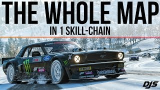 Forza Horizon 4 - DRIFTING AROUND THE ENTIRE MAP - 1400hp Hoonicorn