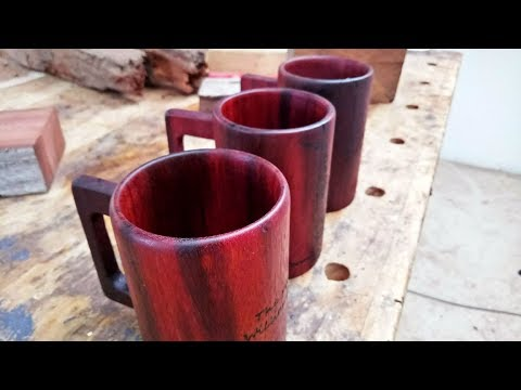 making wooden mugs