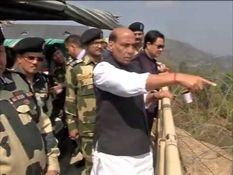 India's Interior minister reviews border fencing with Bangladesh