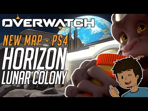 Overwatch NEW MAP - LUNAR HORIZON COLONY GAMEPLAY WITH SUBS + REAPER BUFF! (PS4)