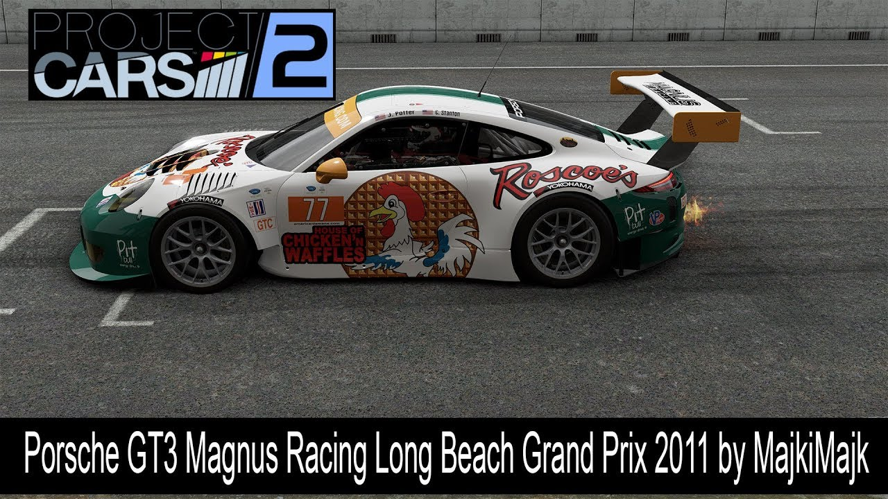 project cars 2 porsche 911 gt3 magnus racing long beach grand prix 2011 youtube. Black Bedroom Furniture Sets. Home Design Ideas