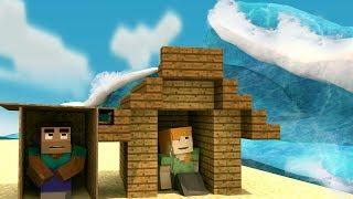 Minecraft | TSUNAMI BASE CHALLENGE - Tsunami Destroys City! (Base vs Tsunami)