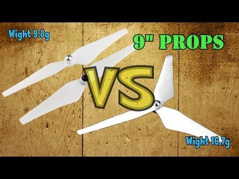3-leaf Propeller Prop Blade VS DJI Plastic