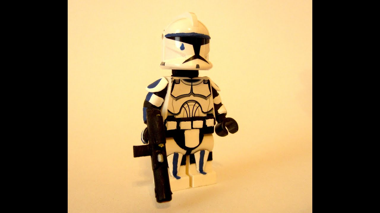Custom Lego Star Wars The Clone Wars 501st Clone Trooper Tup