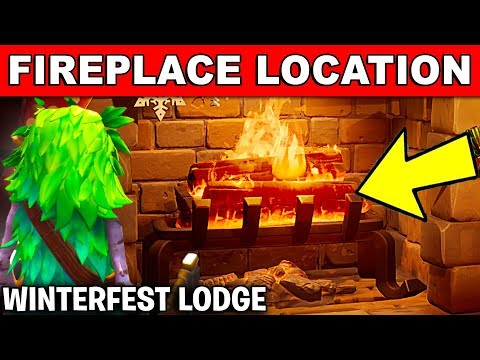 Warm Yourself By The Fireplace In The Winterfest Lodge *LOCATION* Winterfest Challenges (Fortnite)