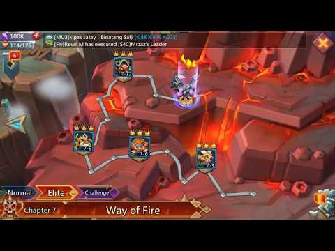 Lords Mobile Hero Stage Elite 7-12 Using F2P Level 58 Heroes