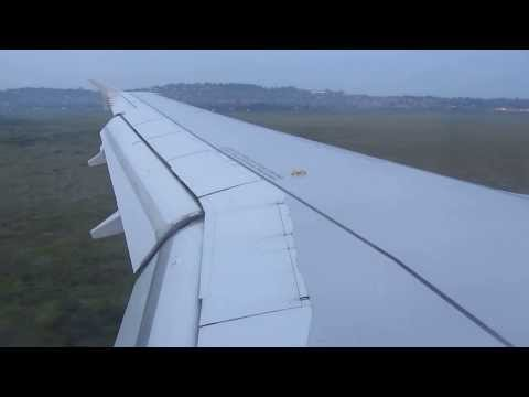 Landing in Entebbe Airport in Uganda on South African Airways