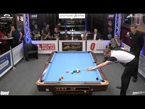 Stuttgart Open 2013, 18 Christian Reimering vs Markus Buck, 10-Ball, Pool-Billard, Cue Sports