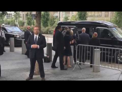 Hillary Clinton collapses and gets dragged into van by security