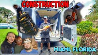 Работа в США на констракшен. Делаем ремонт домов и квартир в Майами. Электрик и сантехник в Америке