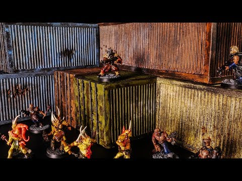 Shipping Containers - Scratch Built for Kill Team, Warhammer 40k, or Gaslands