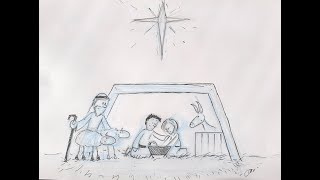 How to Draw a Christmas Scene Part 5: Bringing the Nativity Together